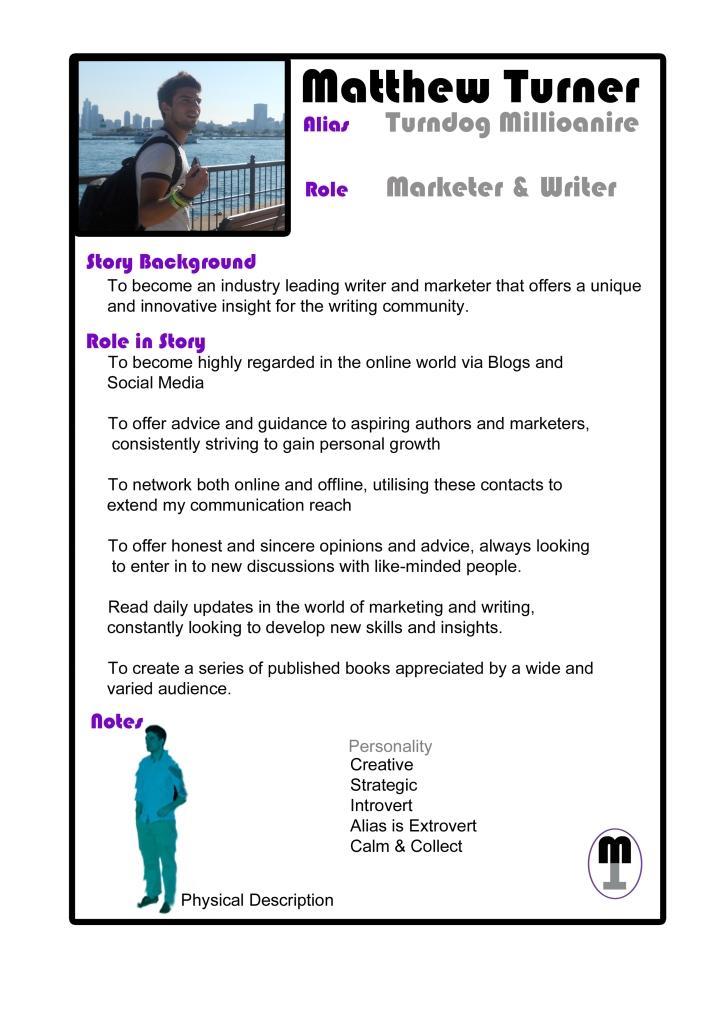 Author Marketing - Character Bio
